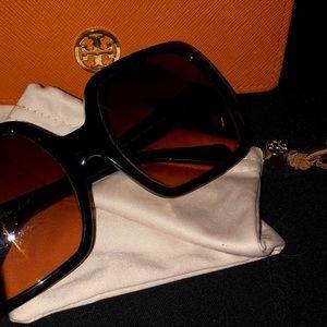 Tory Burch Sunglasses w/ Orange Case & Dust Cover